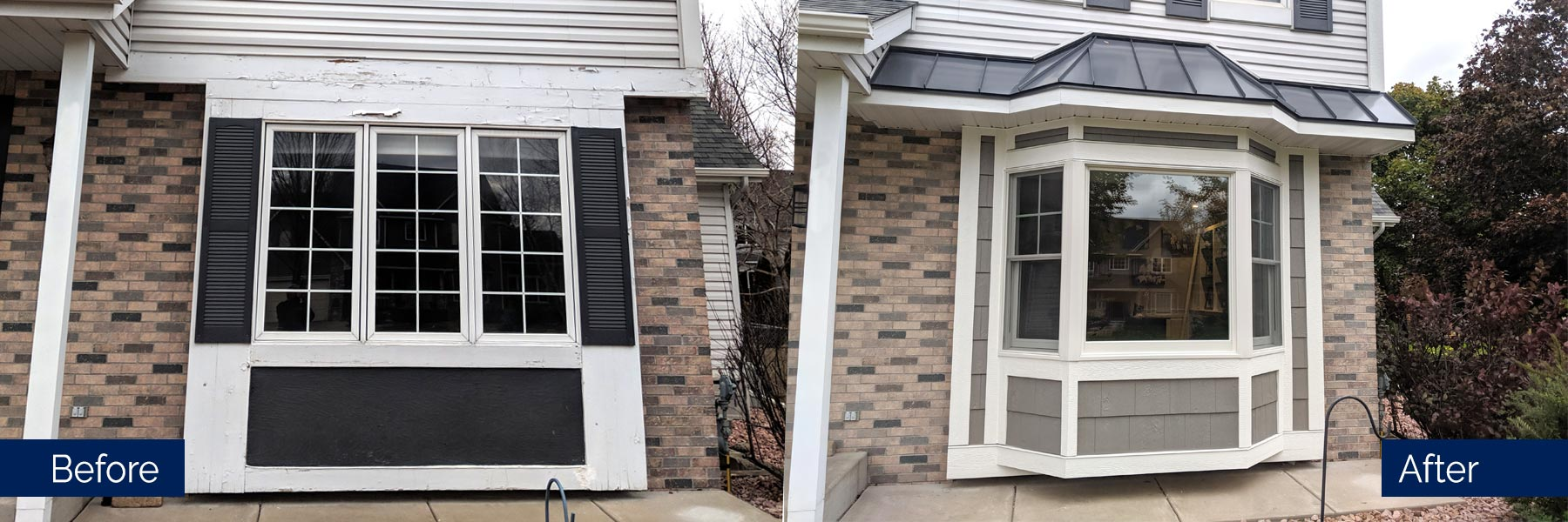Exterior Window Before and After